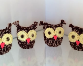 Crochet Owls / Owl amigurumi / Owl decor / Owl pocket pals / Owl desk decor / stocking filler / owl gift