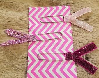 Handmade ribbon planner/bookmarks