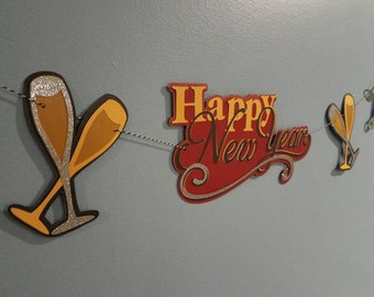 New years eve decorations, Happy new year banner, 2018 party decor, new years banner, new years eve decor, graduation banner,