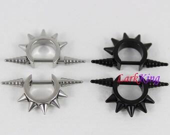Spike stud earrings, spike earrings, black stud earrings, statement earrings, black studs, cute earrings, mens studs, womens studs, SE3502