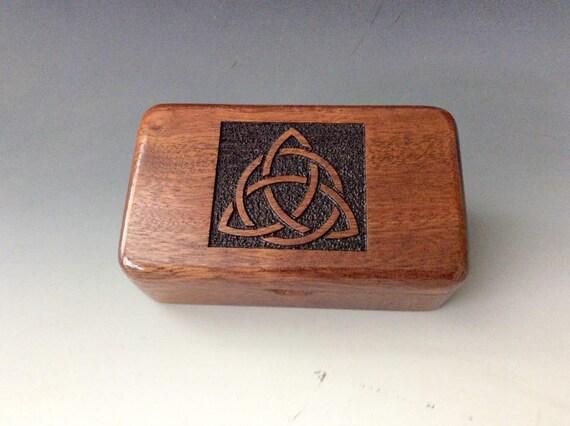 Triquetra Wooden Box - Handmade Small Wood Box- Trinity Knot- Celtic Triangle- Jewelry Box- Keepsake Box - Trinket Box - Gift Box- Ring Box