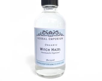 ORGANIC WITCH HAZEL, Witch Hazel, Witch Hazel Extract, Alcohol Free, Witch Hazel Distillate, Witch Hazel Toner, Astringent