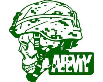 Army Skull decal