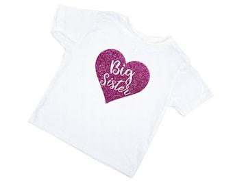 Big Sister Shirt - Pregnancy Announcement - Toddler t-shirt - T-shirt for Girls - Big Sister Outfit - Big Sister T-Shirt