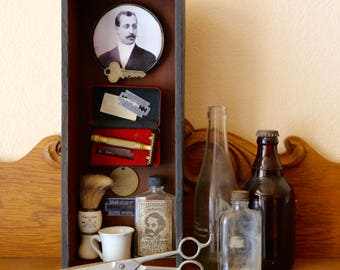 The Barbers Box - Found Object Assemblage