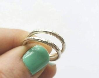 Custom Sterling Silver Hammered Stacking Rings. Hammered Silver Rings. Hammered sterling silver rings. Custom rings.