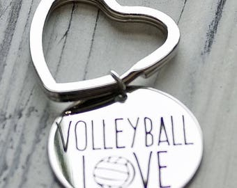 Volleyball Love Personalized Key Chain - Engraved