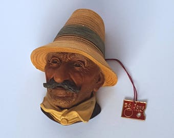 "Bossons 1970s Bossons ""Romanian"" Chalkware Head Made in England Vintage"