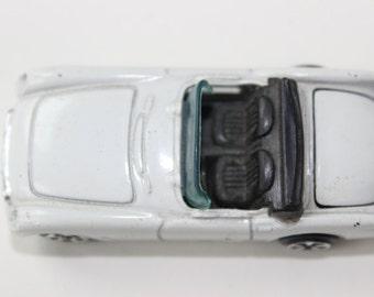 Vintage Kidco 1979 Die Cast Convertible 1953 Chevy Corvette Vintage Toy Car Collectible Car White Soft Top 1970s Vette Miniature Car