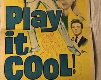 Original Play It Cool Movie Poster - Billy Fury, Bobby Vee, Helen Shapiro