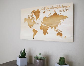 Wooden world map world map wood world map wood map world world map wooden world map wood world map custom world map world map wood custom engraving custom wood sign world map pin board gumiabroncs Images