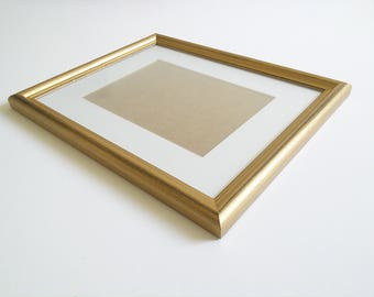 Distressed Gold Silver picture frame photo frame 11x14 Solid wood frame 28x36cm rustic frame Woodworking home decor solidwoodshop