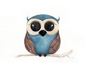 Original illustration painted on thick premium OWL watercolor paper
