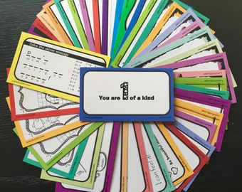 40 Lunch box Cards Lunchbox Notes Family Variety Packs #6-7; love cards, fun notes, lunch notes, lunch cards, lunchbox cards, back to school