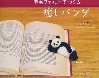 Heart Warming Needle Felting Panda n30975 Japanese Craft Book