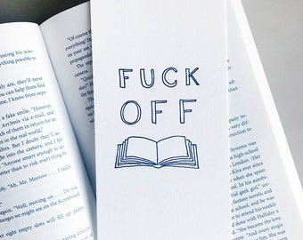 Letterpress Bookmark - Fuck Off