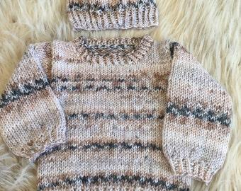 Silver Fox Sweater Set