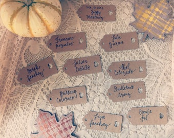 Handwritten Place Cards Tags