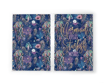Mermaid Kisses Planner Cover for use with Erin Condren Lifeplanners™, Staples® Arc, The Happy Planner™, and TUL™