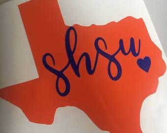 SHSU bearkats sticker | vinyl | decal | Sam Houston State University | Huntsville | Texas | Sticker |Yeti sticker | car decal |
