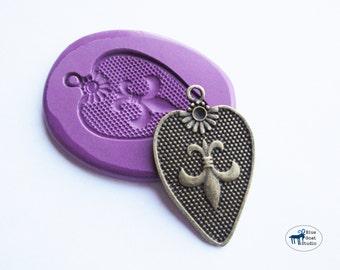Fleur De Lis Mold Shield Mold - French Mold - Silicone Molds - Polymer Clay Resin Fondant