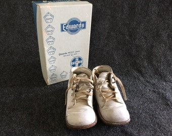 Vintage baby shoes in original box