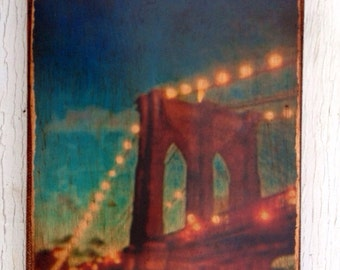 Wall Art - Brooklyn Bridge Photo -  4x6