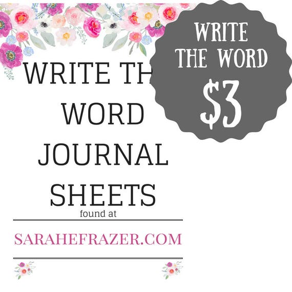 write the word journal sheets