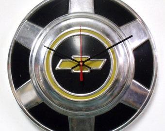Chevy Truck Hubcap Clock - 1976 - 1987 Chevrolet Pickup Hub Cap - Man's Gift - 1977 1978 1979 1980 1981 1982 1983 1984 1985 1986