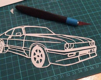 DIY Paper cutting Ford Capri Retro car paper cut