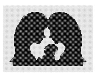 Mothers and Baby, Cross stitch pattern. Digital PDF Patterns.