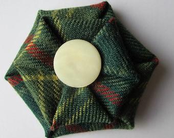 County Armagh Tartan Brooch made in Scotland, Norn Ireland tartan, Ready to ship