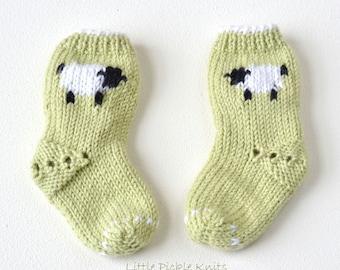 EASY Baby Socks PDF pattern Little Baa Baa