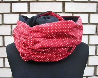 "Winter Loop-Scarf ""Red Dots"""