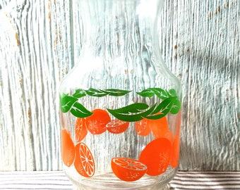 Pichet à jus, ferme cuisine Carafe avec des Oranges, décor de cuisine rustique, Fruit Vase Centre de table