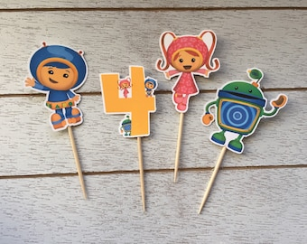 Team Umizoomi Inspired Cupcake Toppers