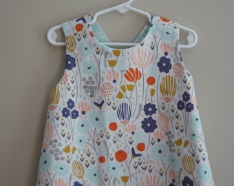 Toddler Reversible Crossback Tunic (size 2T) byJeanne Fabric Creations