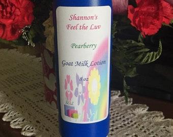 Goat Milk Moisturizing Body Lotion with Shea Butter/Aloe/Goat Milk/Sunflower Oil/Soybean Oil, 8 oz in several scents