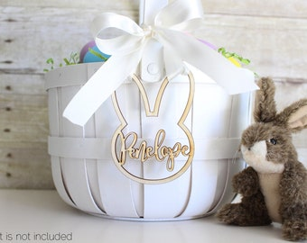 Personalized Easter Basket Bunny Rabbit Tag | Easter Basket Name Charm