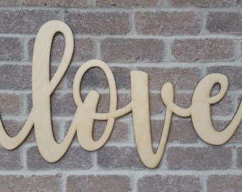 LARGE LOVE SIGN anniversary girlfriend gift for her wedding sign wooden signs wood letters farm decor wedding country decor valentines gift