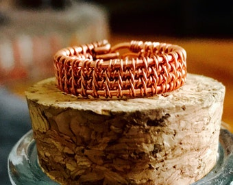 Wire wrapped ring - Copper ring - Simple - Boho - Wire wrapped jewelry - Handmade