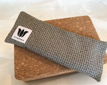 Masculine Suit Style, Eye Pillow, Eye Shade, Flax Seed, Organic Fill, Eye Compress, Warm / Cold, Eye Therapy, Headache Relief, UNSCENTED