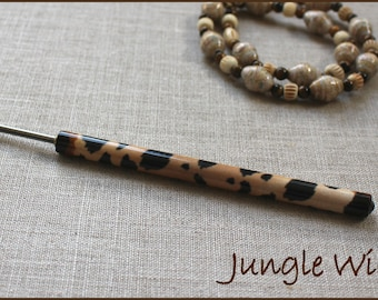 "Jungle Wild Kraft-i Roller - Paper Bead Roller / Tool from the Original Collection 1/8"" or 3/32"" - Tutorial Included"