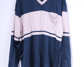 RONLEY Mens XL Shirt Long Sleeve V Neck Nylon Sport