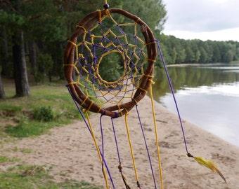 Sunny traditional dream catcher Positive talisman Hippie dreamcatcher  totem