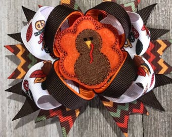 Thanksgiving Bow...Gooble Gobble turkey bow