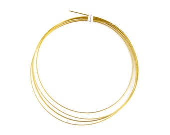 5 m wire metallic laminated gold 0.45 mm (A 06)
