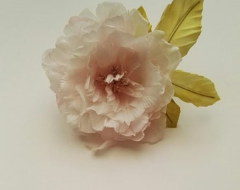 Silk poppy flower, Bridal flower, Silk flower, Bridesmaid gift, Hair fascinator, Mothers Day gift, Mother of the bride, Annyversary gift