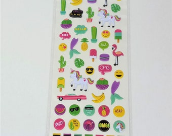 Omg Planner Puffy Stickers Agenda 52 by Paper Studio 62 pc