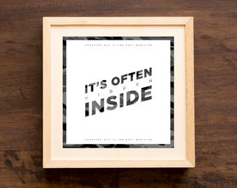 Hidden Inside - Typographic Print/Poster